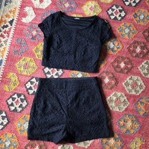 Express two-piece knit outfit